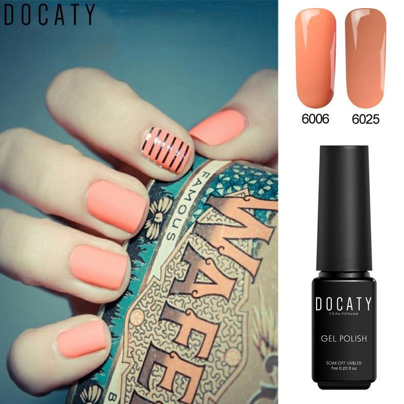 Docaty Charming Colors One Step Gel Nail Polish Fashion Soak Off ...