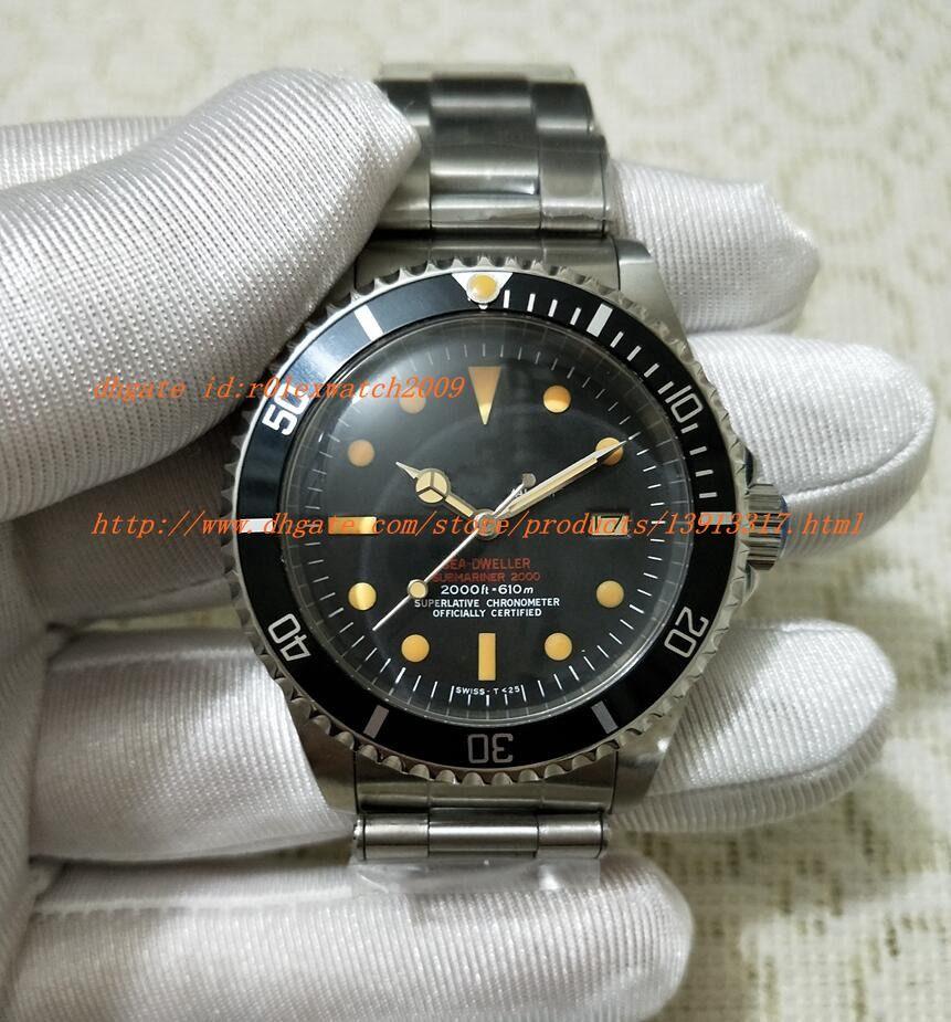 36351400dd27 Compre Bp Factory Best Edition Mar Retro 16660 Reloj Correa Automática Reloj  Relojes Antiguos Esfera Negra Mens Relojes De Pulsera Hombres Ver Classic  ...
