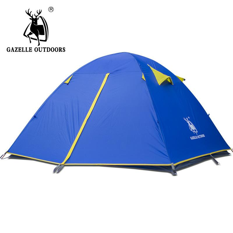 Gazelle New Camping Tent Double Layer 2 4 Person Waterproof Outdoor