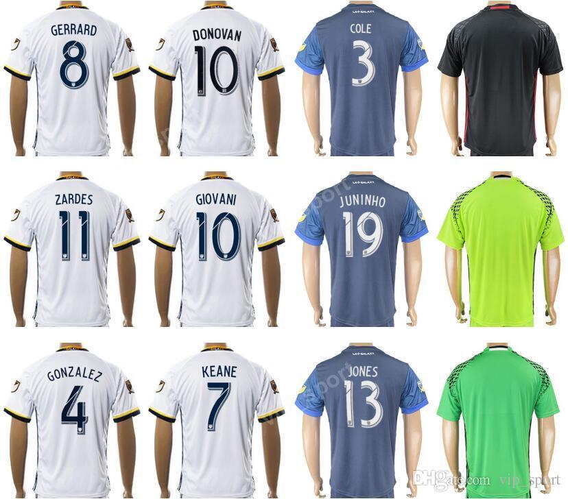 0ac71ef1f8f4 2017-18 Soccer Los Angeles Galaxy Jersey 8 GERRARD 10 DONOVAN 2018 ...