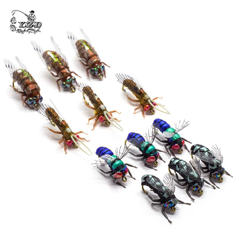 Fishing Tackle Lure Artificial Hot Dry Fly Flies Set for Rainbow Trout Flies 8# 10# 12#Patterns Assortment Fishing flyfishing