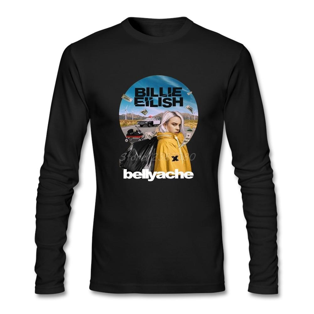 bc114b82e Compre 2017 Hot Billie Eilish Music Vintage Camiseta Cool Camisetas Para  Hombres O Cuello De Algodón De Manga Larga Camisetas Divertidas A  47.58  Del ...