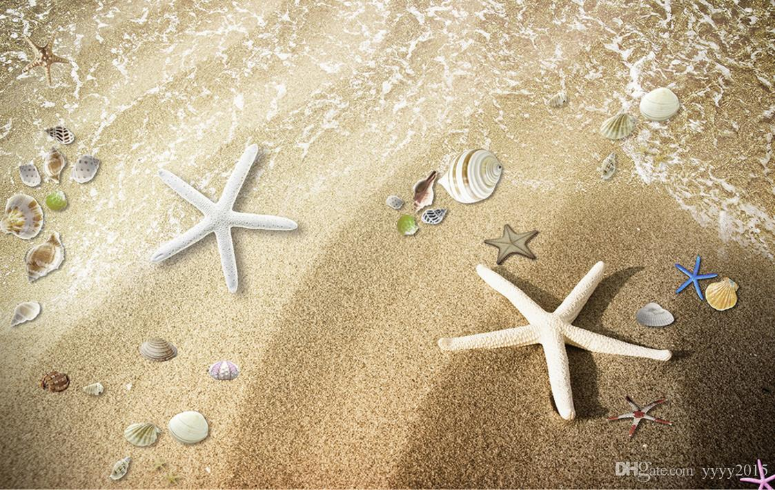 Wallpaper For Walls 3 D For Living Room Romantic Beach Starfish