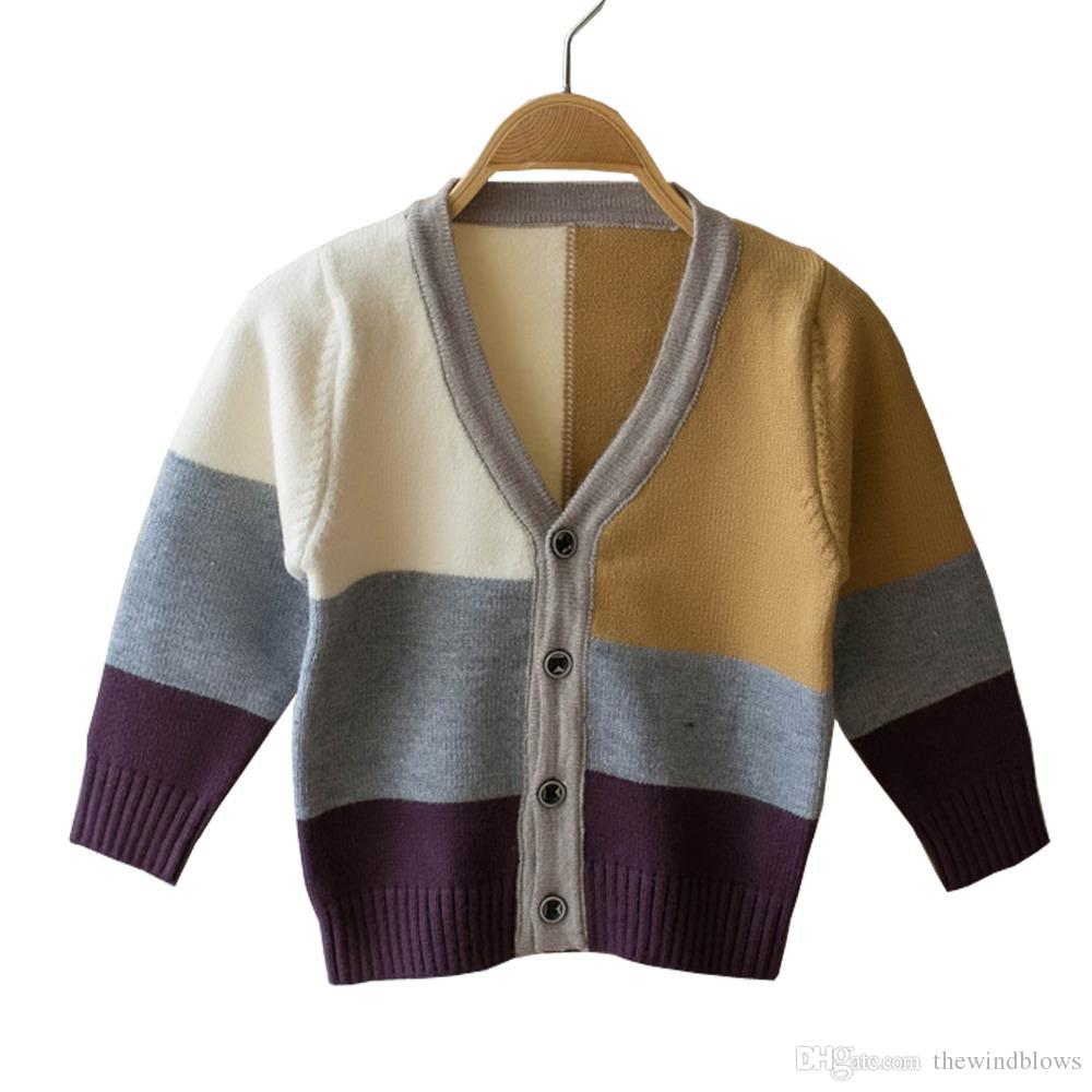 2018 Boys Sweaters Baby Boys Cardigans Knit Wear For Kids Clothes