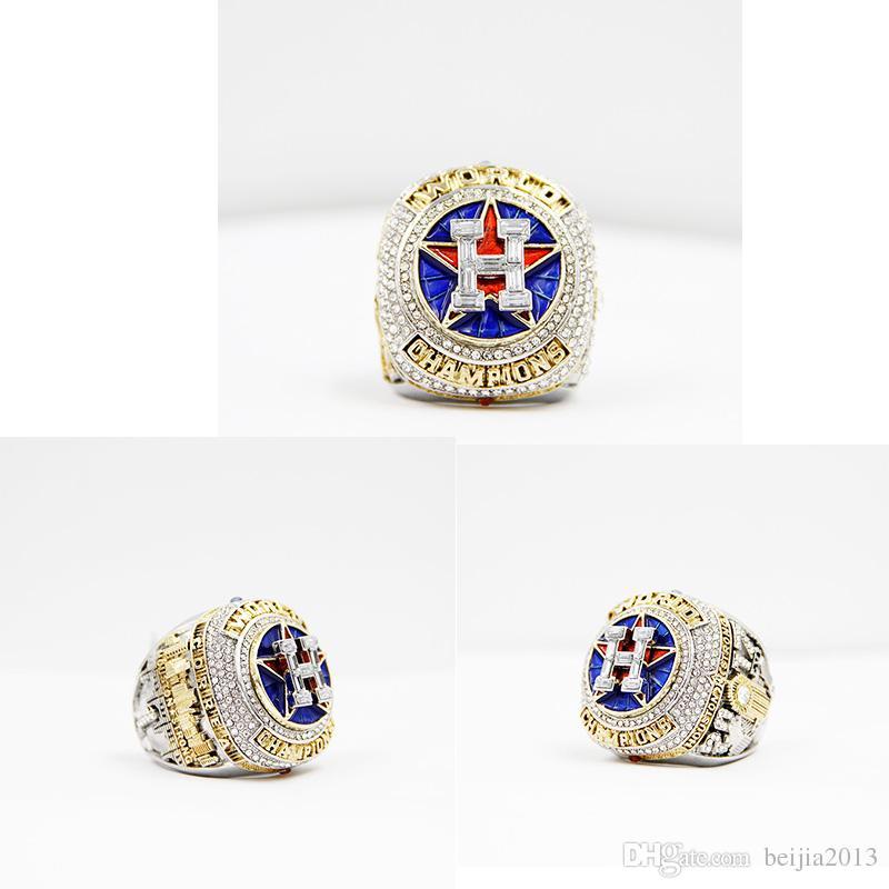 Date Championnat Série bijoux 2017 2018 Houston Astros Championnat Du Monde Baseball Anneau Altuve Springer Fan Cadeau gros personnalisé
