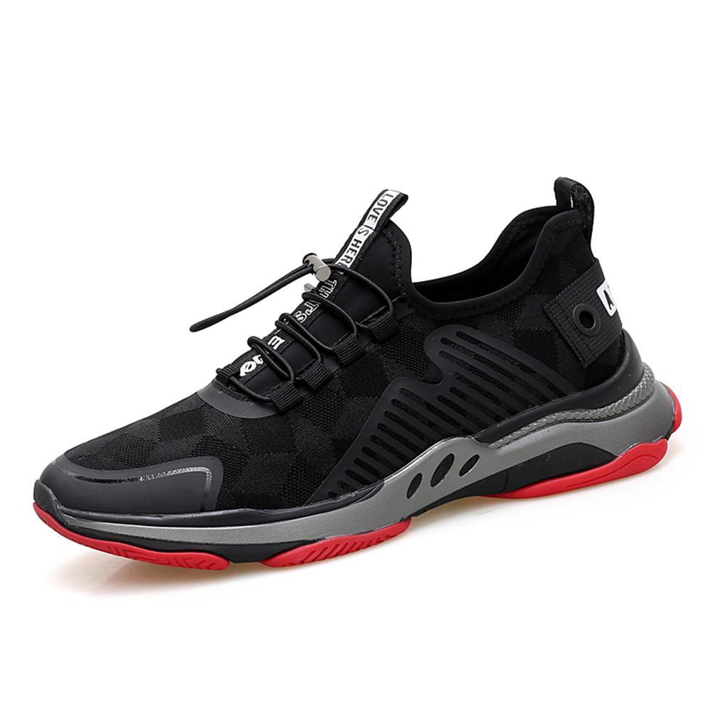 606e2e1aa3251 Compre Zapatillas De Tendencia Populares Para Hombres Zapatillas De Deporte  Respirables Zapatillas De Deporte Rojas Negras Zapatillas De Deporte  Atléticas ...