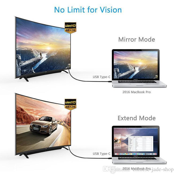 USB 3.1 Tip C HDMI 4 K 1080 P HDTV Adaptör Kablosu macbook ChromeBook Piksel SAMSUNG S8 artı s8 50 ADET / GRUP