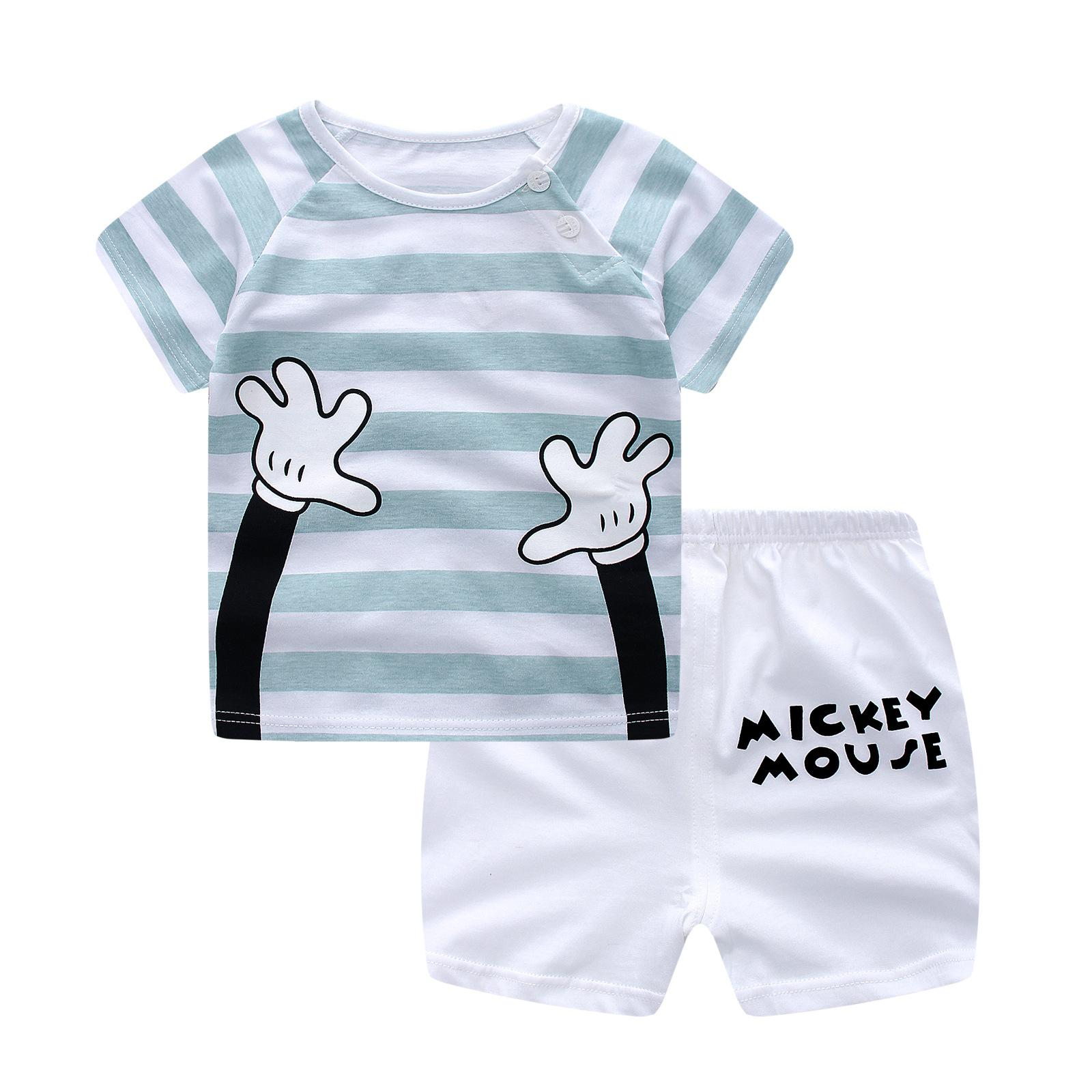 8fe155406d30 2019 2018 New Baby Clothing Sets Summer Short Sleeve Cotton T Shirt +Pant  Kid Children Baby Girl Boy Clothes Leisure Suit From Runbaby