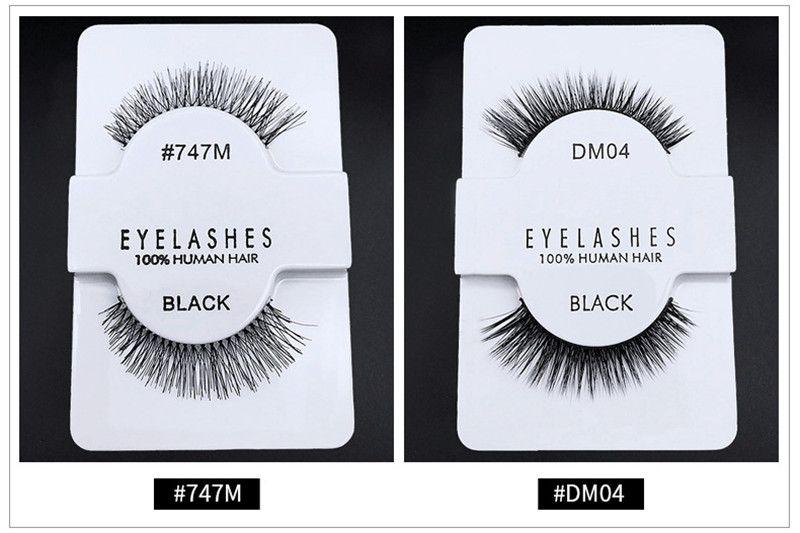 Hot New 14 styles Human Hair Eyelashes 3D Messy Eye lash Extension Sexy Eyelash natural long thick false eyelashes fake lashes