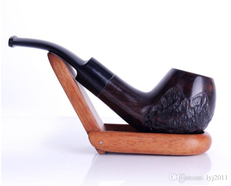 Ebony engraving, hammers, pipes, retro wood, depicting old men's old pipes