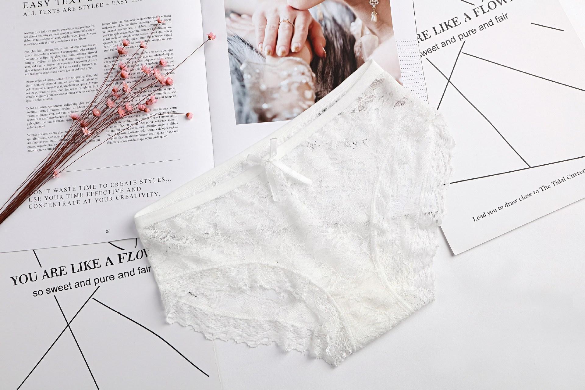Nouvelle 2018 qualité pas cher Lingerie sous-vêtements femmes culotte filles jacquard dentelle maille dames sexy ropa intérieur femenina K005