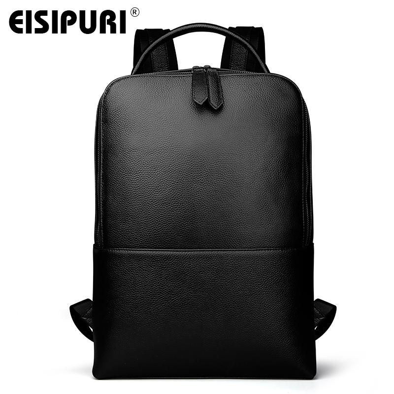 4d3835e1bd32 EISIPUR New Fashion Men Genuine Leather Backpack Male High Quality  Waterproof Bagpack Laptop Messenger Travel 15.6 School Bag Y1890401 Cute  Backpacks Hiking ...