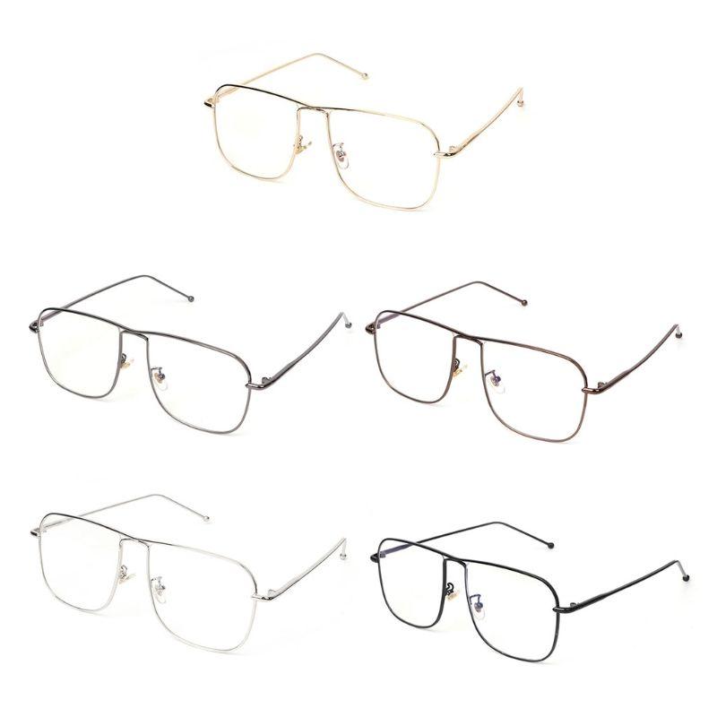 dbd7569d856 Rectangle Clear Lens Glasses Metal Frame Vintage Retro Women Men Modern Eyewear  Eyewear Frames Cheap Eyewear Frames Rectangle Clear Lens Glasses Metal  Frame ...