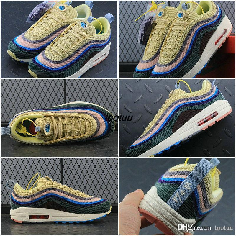 sale Inexpensive cheap sale affordable Brand New 97 95 Sean Wotherspoon 95 Running Shoes Top Wmns 97 TT Hybrid Trainers Sports Shoes Sean Wother Spoon 95S Blue Red Sneakers 36-45 qisArRNi14