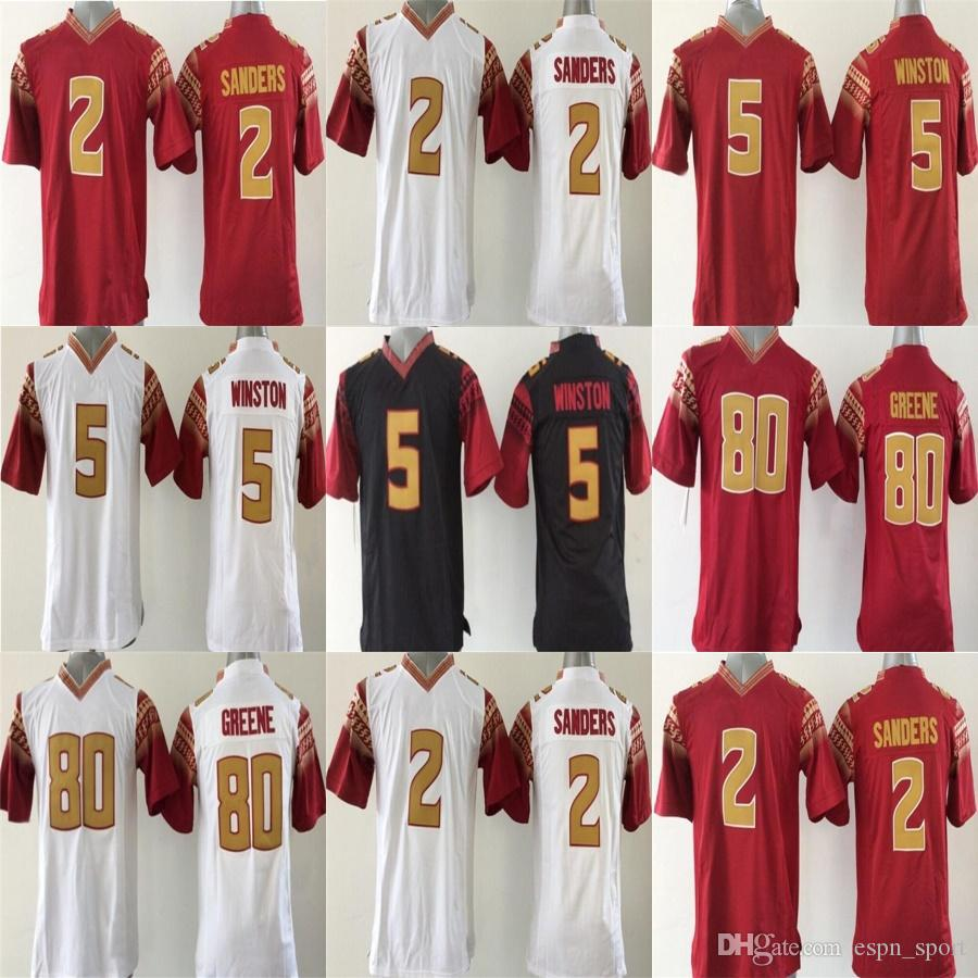 factory outlet 2 deion sanders 5 jameis winston 80 rashad greene red youth florida state seminoles k