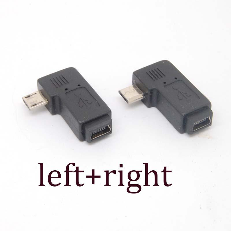 2019 90 Degree Left Right Angle Adapter Micro USB Type A B Male To Mini FeMale From Pastry 2036