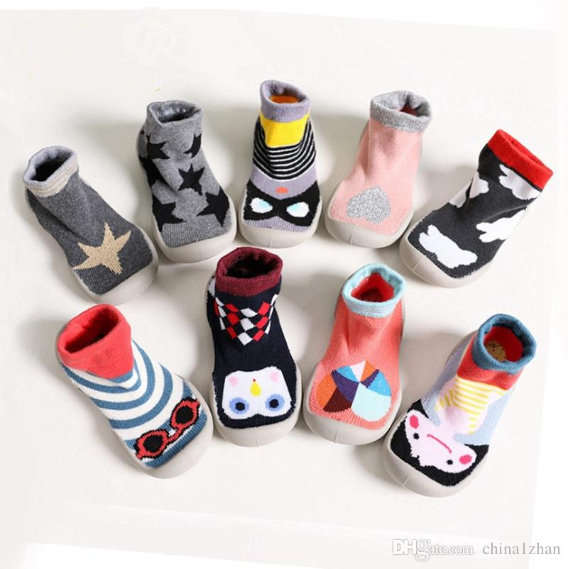 7d75c9dba79f INS Baby Shoes Cute Baby Socks With Rubber Soles Kids Floor Socks ...