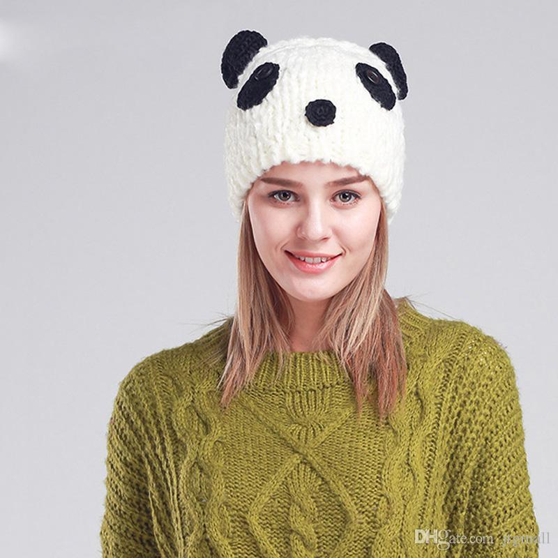 87923e1af2ce10 Cute Panda Beanies Winter Beanie Hats For Women Novelty Caps Fitted Hats  Straw Hats From Jtgmall, $10.06| DHgate.Com