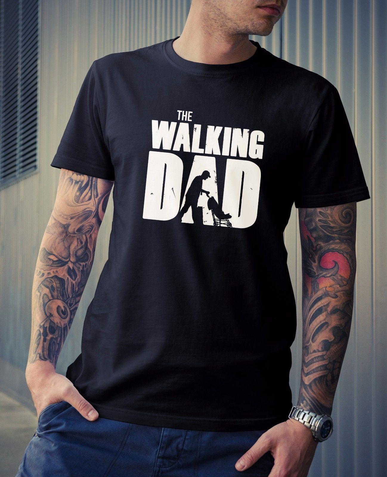 a3e33496e2a5 Walking Dad Mens Tee Novelty Gift TV Dead Zombie Joke Funny TWD Fathers  Geek Cool Casual Pride T Shirt Men Unisex Fashion Tshirt As T Shirt Online T  Shirts ...
