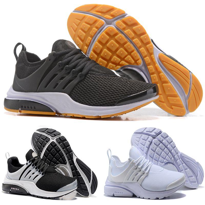 299755173ae Compre NIKE Air Presto Flyknit Ultra 2018 Presto 5 BR QS Breathe Negro  Blanco Amarillo Rojo Hombres Mujeres Zapatillas De Running Prestos Sports  Zapato ...