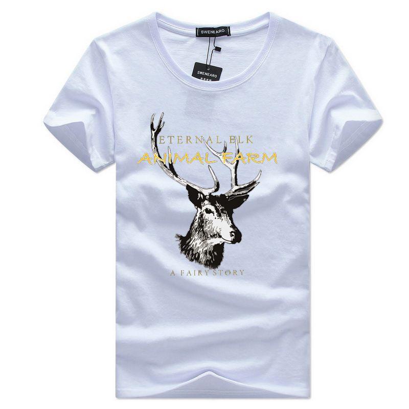 acd91e19efd 2018 New T Shirt Men Brand Clothing Deer Cotton Soft Tshirt Homme ...