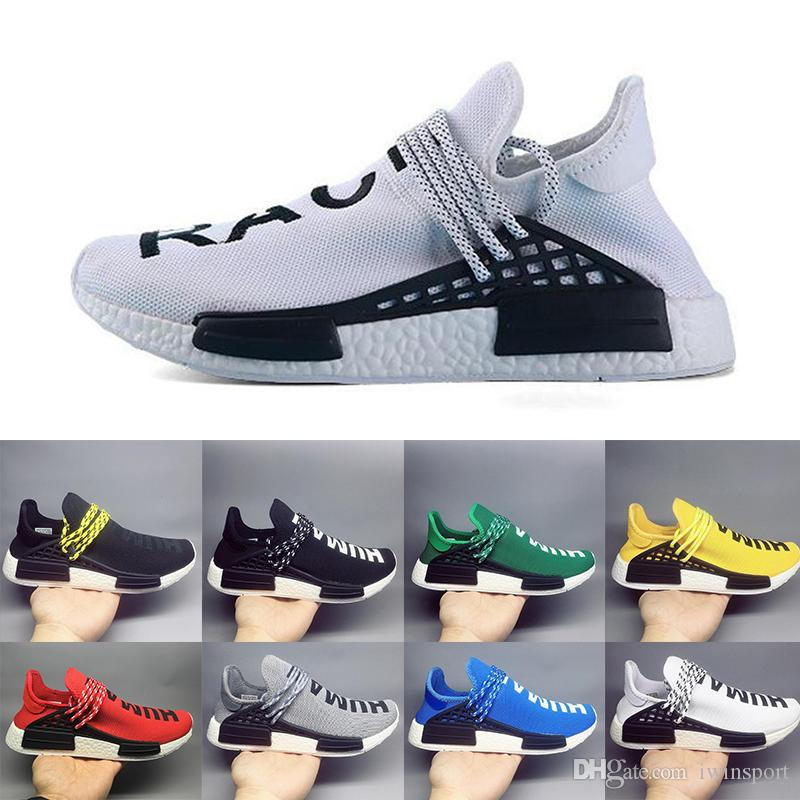 4f297ef3a751 2019 NMD Human Race TR Men Running Shoes Pharrell Williams Nmds Human Races  Pharell Williams Mens Womens Trainers Sports Sneakers 36 45 Top Running  Shoes ...