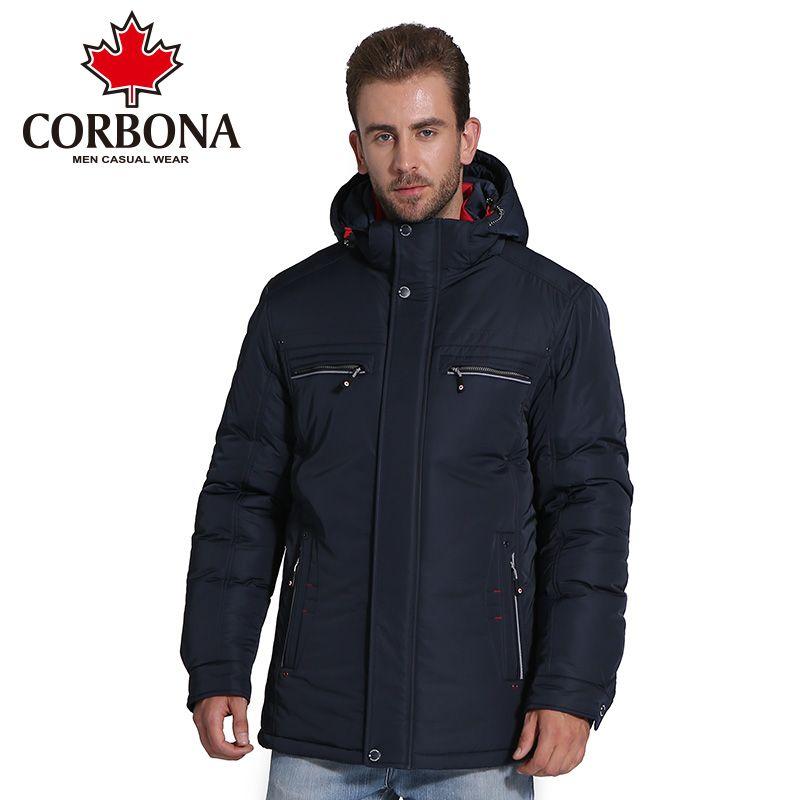 Compre CORBONA Invierno Hombres Chaqueta Marca Ropa Casual Cálido Chaquetas  Y Abrigos Para Hombres Gruesos Parka Hombres Outwear Chaquetas Paravientos  A ... 861967fec177