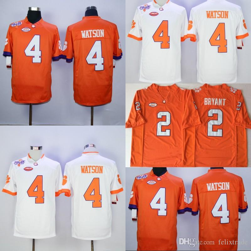 8b57d0f16c1 2019 UGA Clemson Tigers 4 Deshaun Watson 2 Kelly Bryant Orange College  Double Stiched Football Jersey IN STOCK From Felixtrade, $23.1 | DHgate.Com