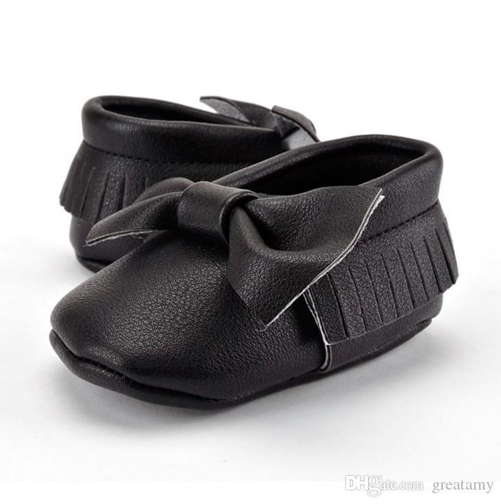Baby Newborn Infant Cute Girls Princess Tassels bowknot Shoes 0-1T soft leather prewalker cute baby kids girls shoes