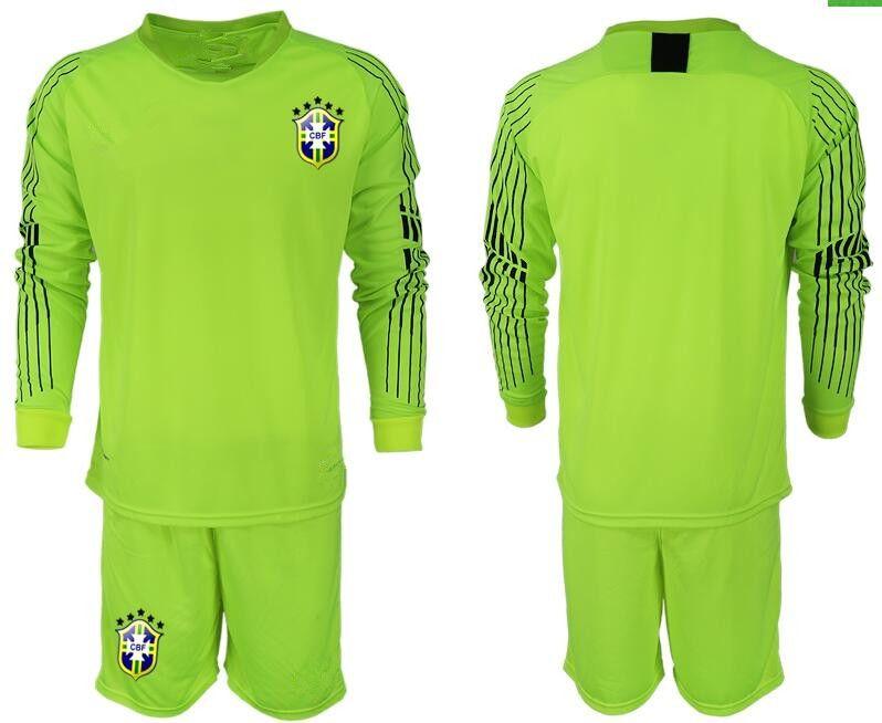 18 19 Camiseta De Portero De Mangas Largas ALISSON Soccer Set   1 Kits De  Fútbol Para Adultos ALISSON 2018 Conjunto Uniforme De Porteros De La Copa  Del ... bc59edb976ef5