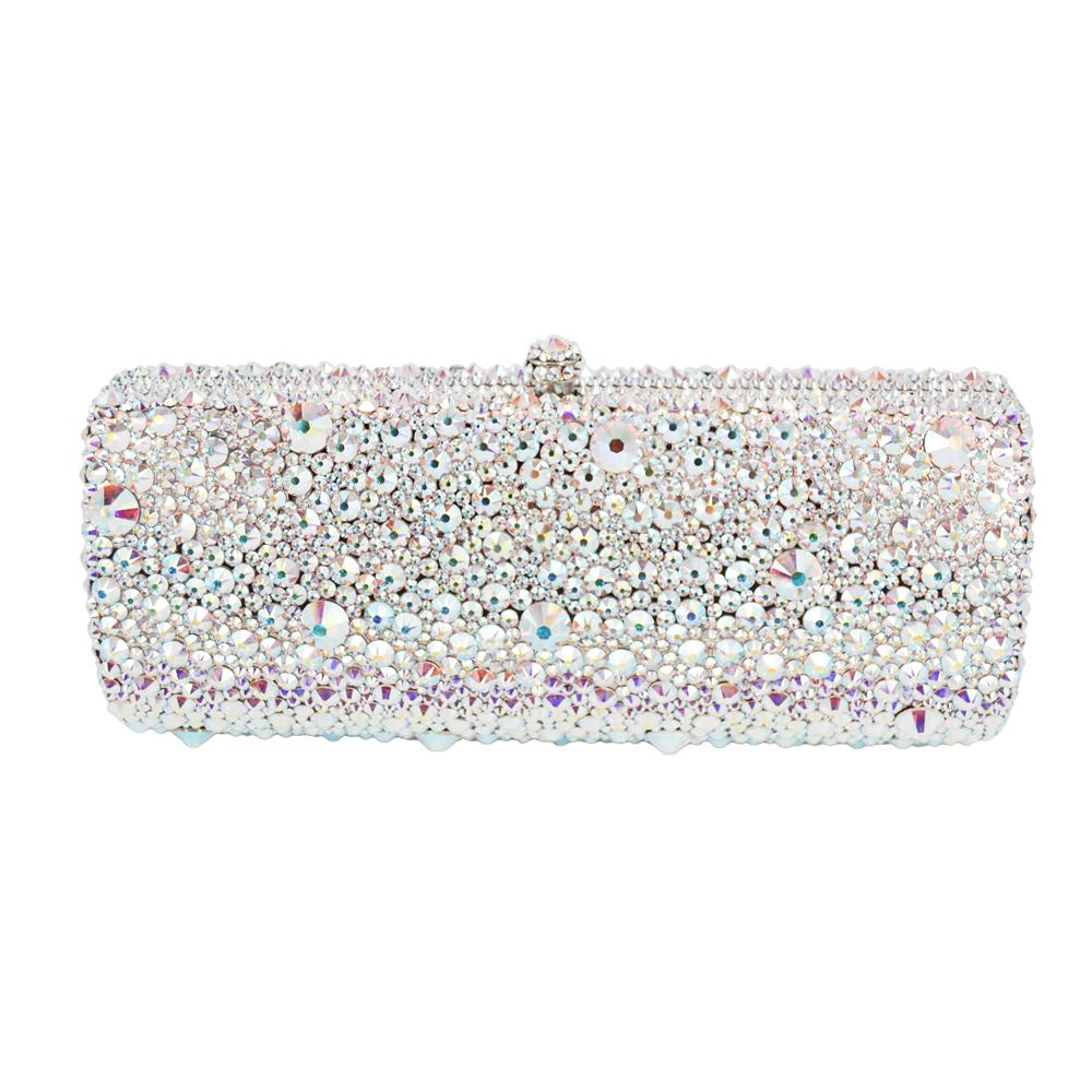5403f9f6514f4 Australian Crystal Luxury Evening Bag Bling Party Purse Top Diamond  Boutique Gold Silver Women Wedding Day Clutch Bag Cute Purses Overnight Bags  From ...