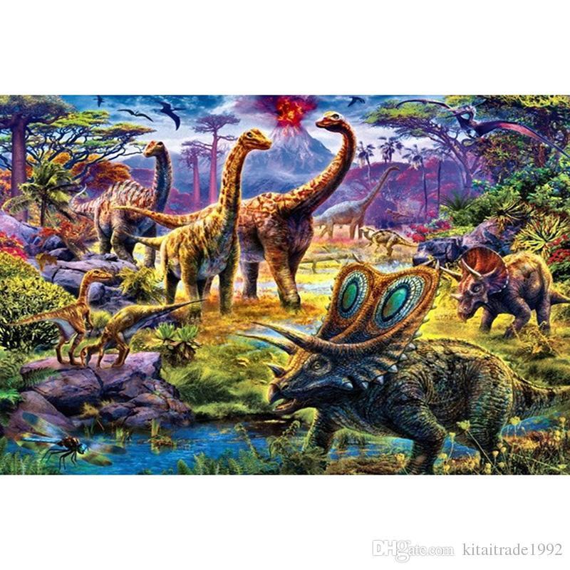 Satın Al 5d Elmas Boyama Dinozor Tam Elmas Nakış Diy Reçine Taş