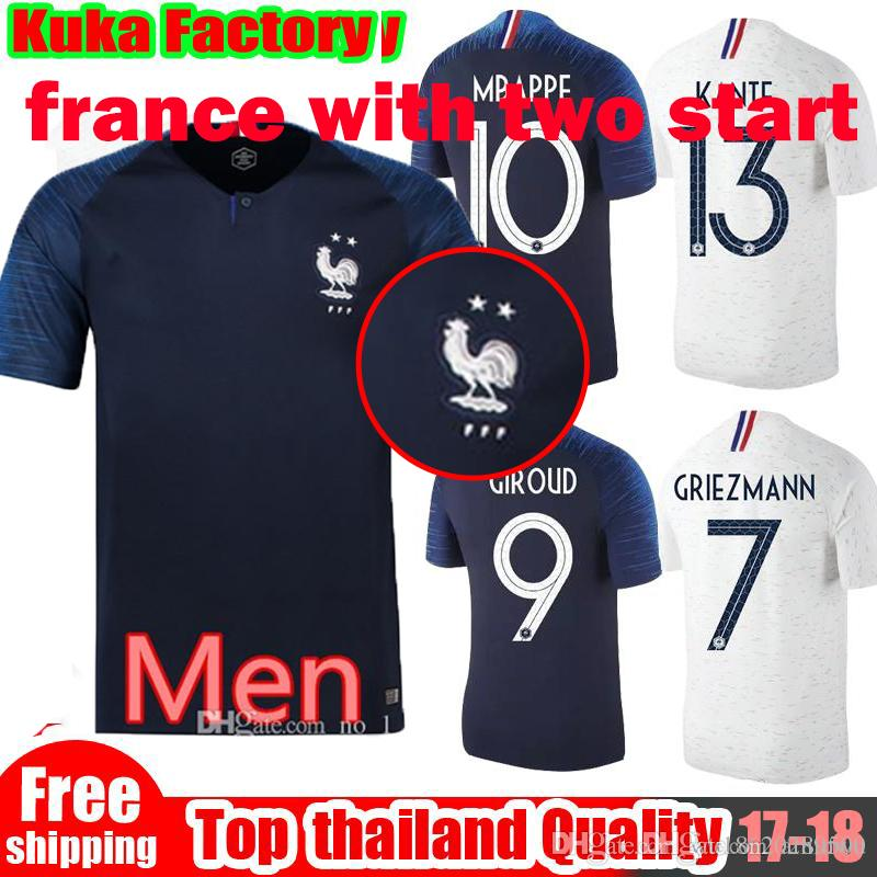the latest fed01 f2b70 fr 2018 World Cup champion two stars Soccer Jerseys MBAPPE GRIEZMANN POGBA  PAYET #8 Jersey 2019 FR de foot football Shirts Best Quality