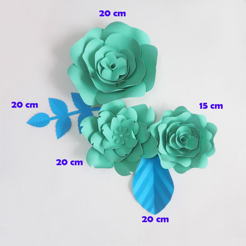 Diy giant paper flowers artificial rose fleurs artificielles diy giant paper flowers artificial rose fleurs artificielles backdrop 2 leave wedding party decor nursery tiffany blue funny gift items funny gifts from izmirmasajfo