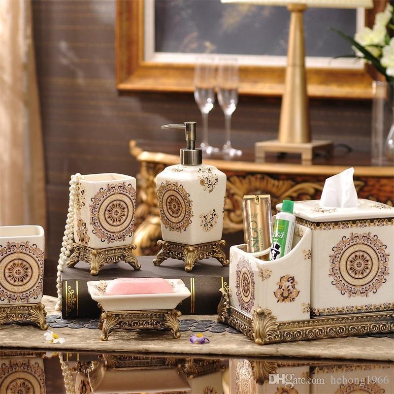 Compre Moda Hechos A Mano Juegos De Bano De Lujo Jabon De Ceramica