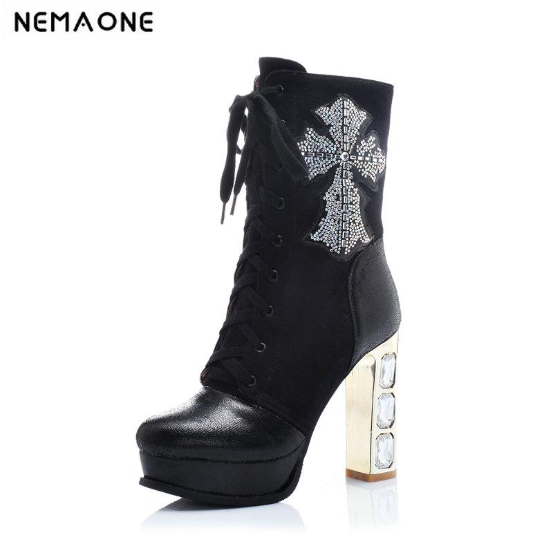 953a400836d7ab 2019 Women Spring Autumn Women Boots 11.5cm Super High Heel Shoes Suitable  For A Casual Dinner Party It`s Black And White Shoes For Women Desert Boots  From ...