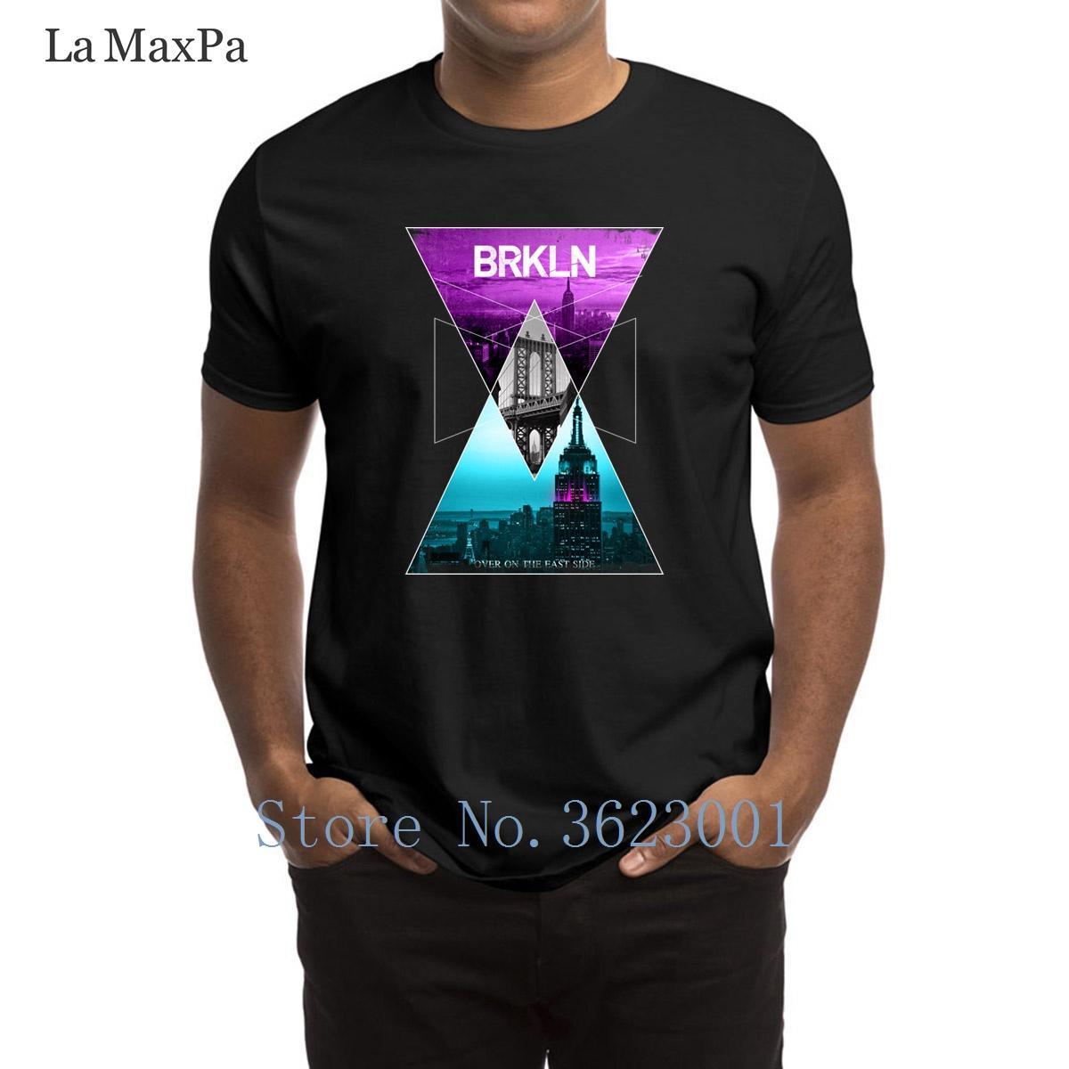 New City shirt Kawaii T York Brooklyn Afdrukken Man Geometrisch TPZiuOkX