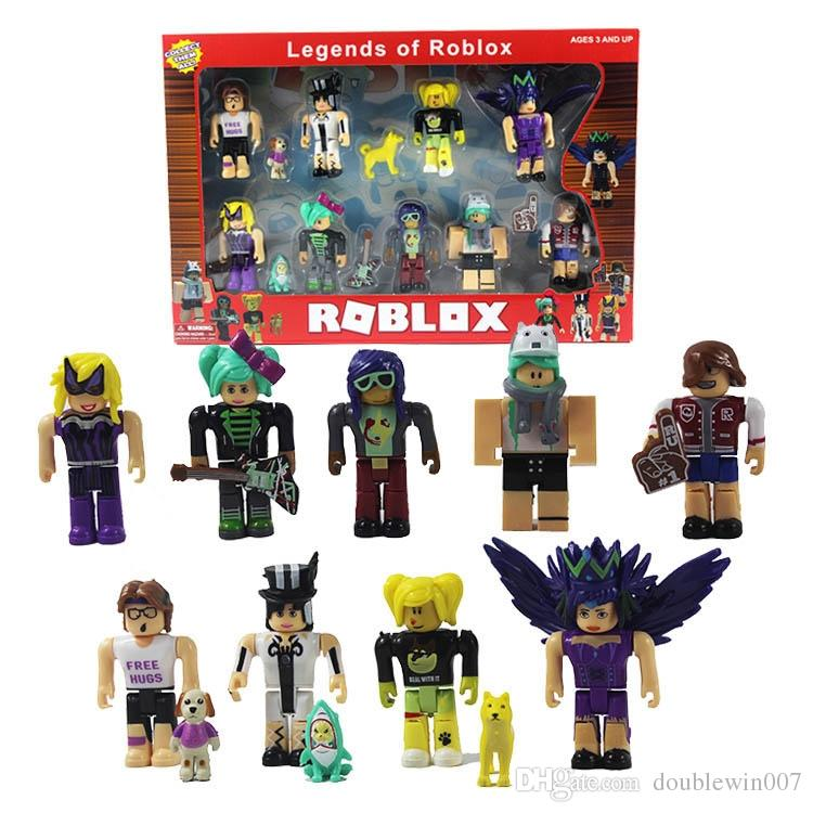 12sets DHL free shiping 9pcs Roblox Characters Figure 7/7 5cm PVC Game  Figma Oyuncak Action Figuras Toys Roblox Boys Toys for Children Party