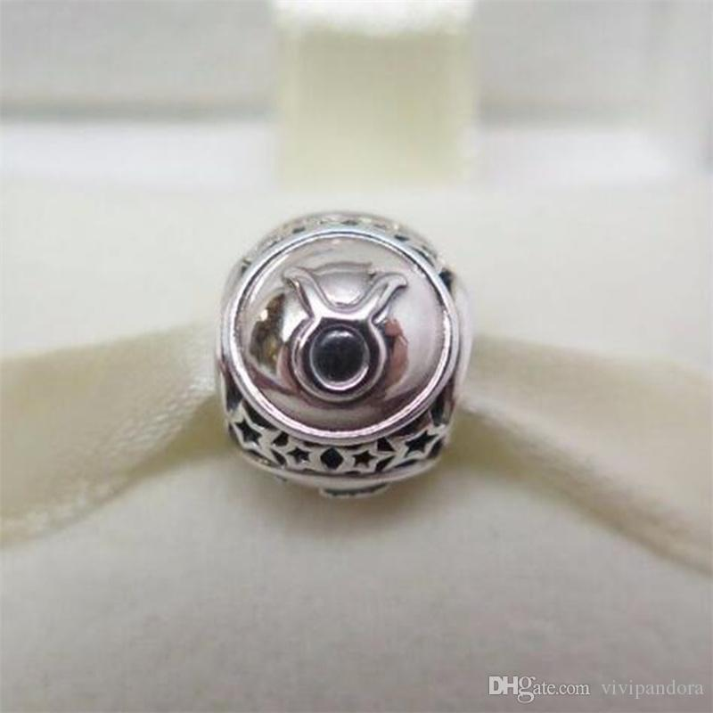 6bc9852cf 2019 100% 925 Sterling Silver Taurus Star Sign Charm Bead Fit European  Pandora Style Jewelry Bracelets & Necklaces From Vivipandora, $17.06    DHgate.Com