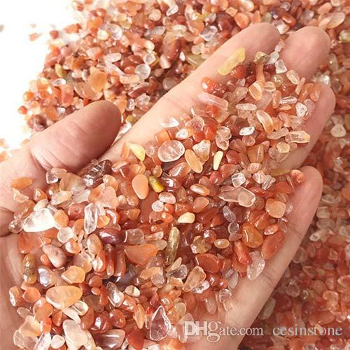 100g Red Crystal Quartz Gravel New Decorate Aquarium Energy Décor Fish Tank Stone Tumbled Crushed Irregular Shaped Chips Reiki Healing Rough