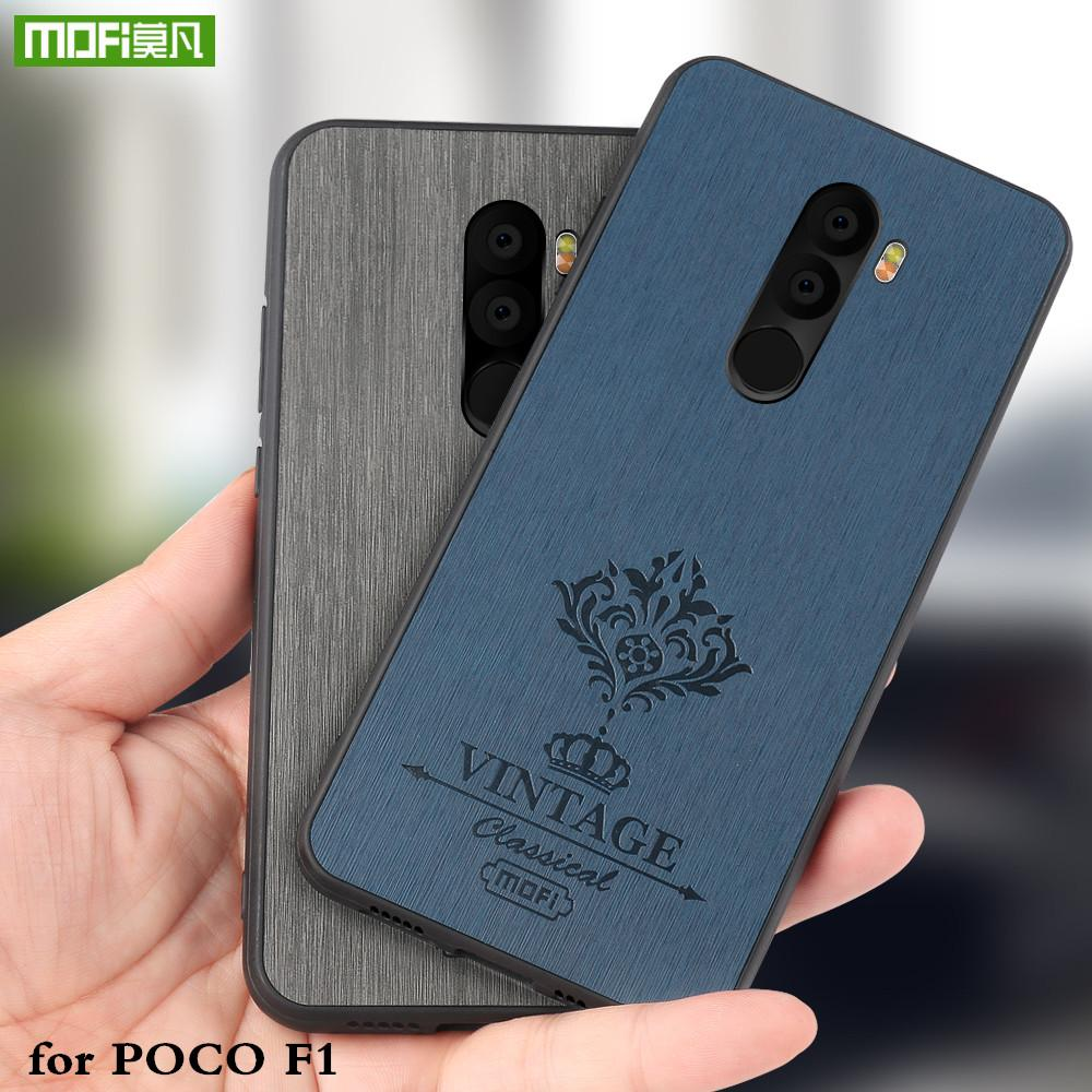 timeless design 0af06 fc4cd wholesale Back Case for Xiaomi Poco F1 Hard PC Cover for Mi Pocophone F1 PU  Leather Coque for Xiomi Luxury Housing
