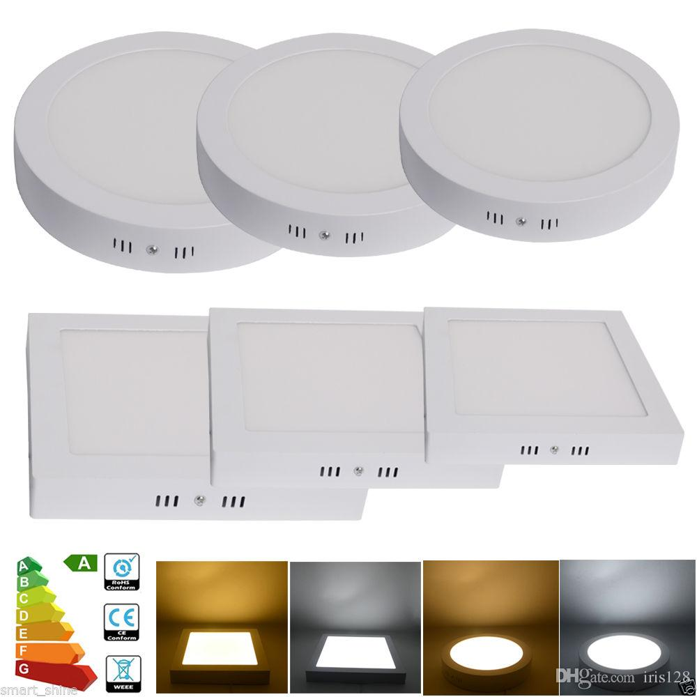 Wholesale Surface Mounted Panel Light Led Downlight lighting 6w 12w 18w 24w round square Led ceiling down lights AC 85-265V