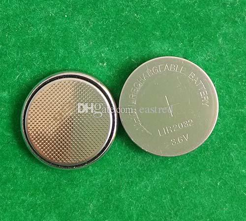 3.6v LIR2032 rechargeable button battery, li-ion coin cell batteries