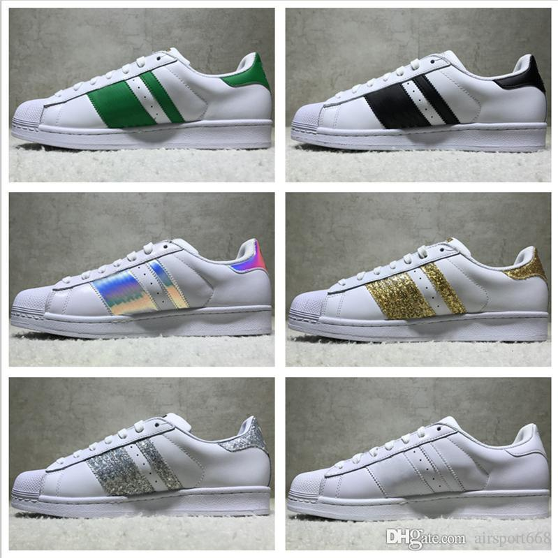 Discount Best Quality Superstar White Hologram Iridescent Junior Superstars Sneakers Super Star Women Men Sport Running Shoes Eur36 45 From China | Dhgate.