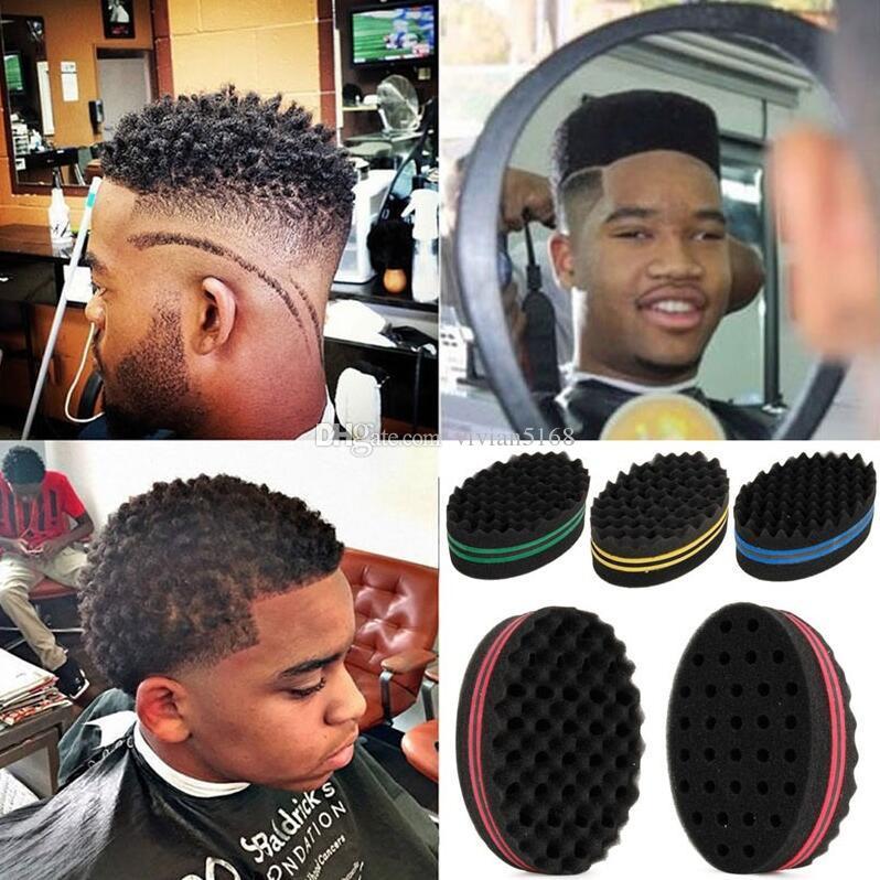 Moda Magia Onda Torção Esponja escova de cabelo Afro Encaracolado Tecer Oval Dupla Face Plana Grande Buraco Ondulado Pequeno Buraco Dreads presente