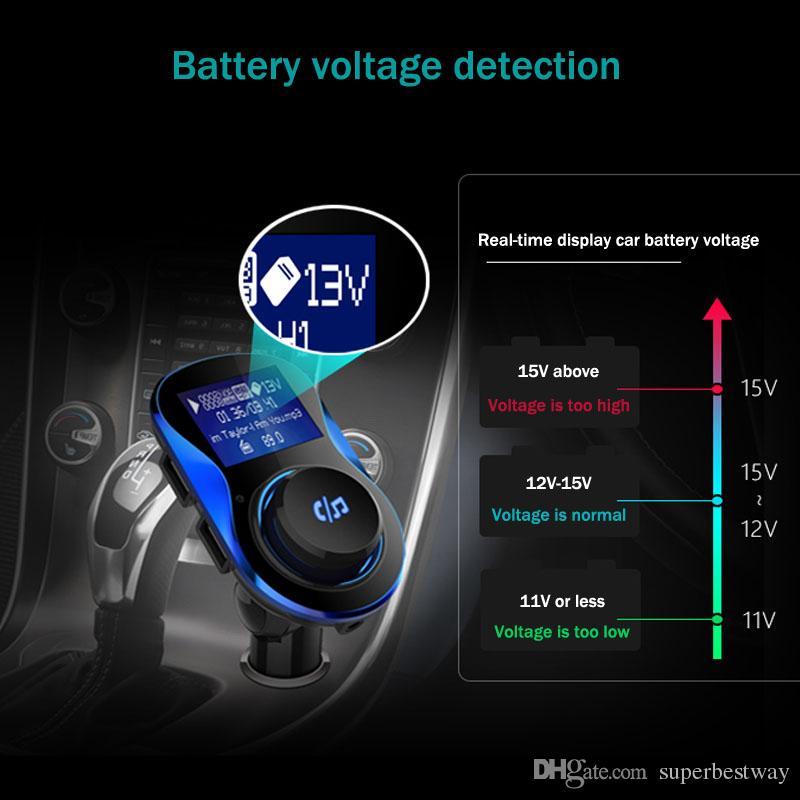 BC28 Bluetooth voiture kit mains libres sans fil transmetteur voiture lecteur mp3 avec chargeur de voiture double usb support tf carte / u disque OTH791