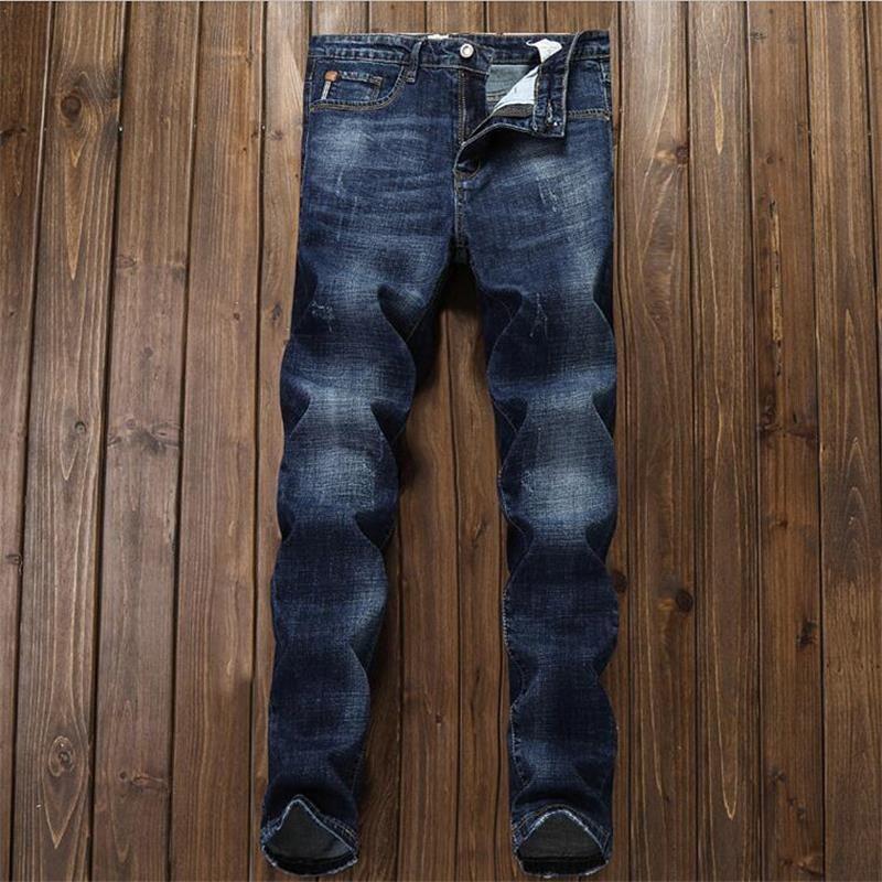 2018 New young man Korean style 100% Cotton classic fashion Convenient slim jeans pants men jeans