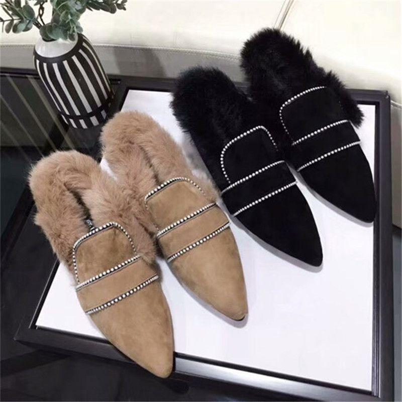 374921766d6 Designer Women Shoes Brand Flat Brand Loafers Designer Slides ...