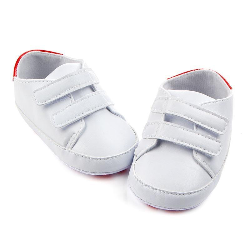 51bbccd7f9f Compre Zapatos Para Niños Zapatillas Deportivas Con Suela Blanda Cuero De  PU Zapatos De Bebé De Color Blanco Puro Clásico Casual Niño Recién Nacido  Chica ...