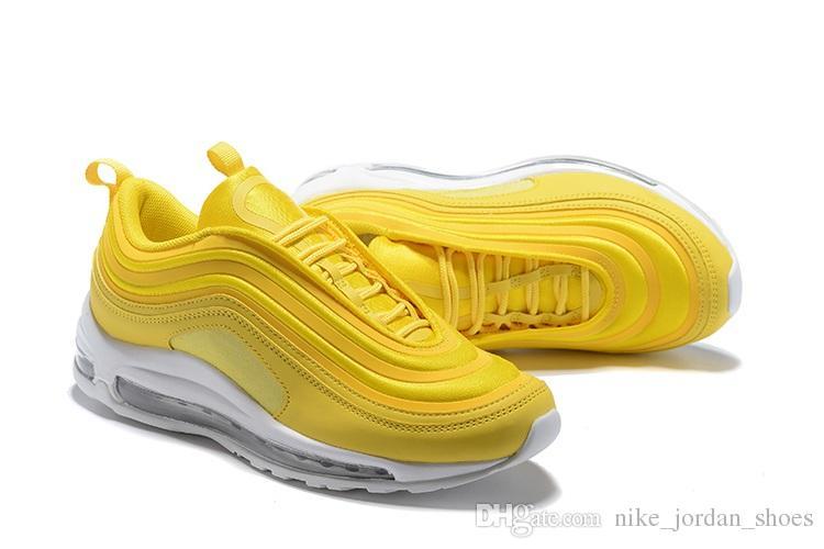 570c7e78bb1ef 2019 Designer 97 Running Shoes Mustard Yellow Women Outdoor Sports Shoes 97  SE OG Bullet Women Trainer Sport Sneaker Size 5.5 8.5 From  Nike jordan shoes